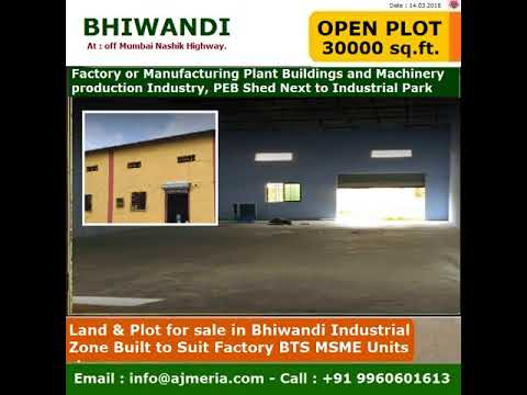 Land & Plot For Sale In Bhiwandi 30000 Sq Ft, Industrial