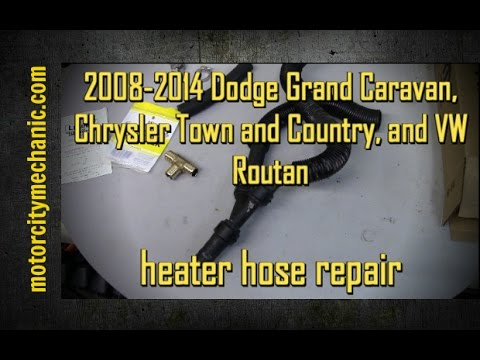 2008 2014 grand caravan and town and country volkswagen routan heater hose repair youtube. Black Bedroom Furniture Sets. Home Design Ideas