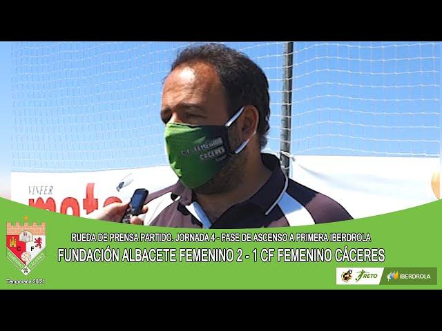 Liga #RetoIberdrola 20/21. Jornada 4ª Fase de Ascenso. RdP: FUNDACIÓN ALBACETE - CF FEMENINO CÁCERES