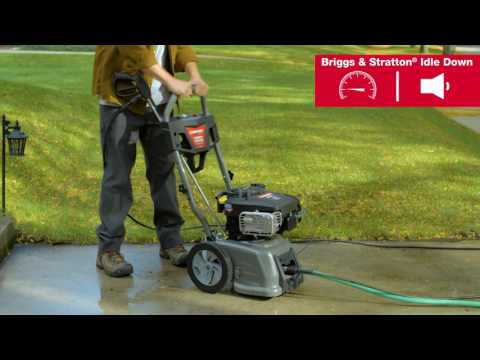 Idle Down | Troy-Bilt® 3100 Max PSI Pressure Washer with Briggs & Stratton®