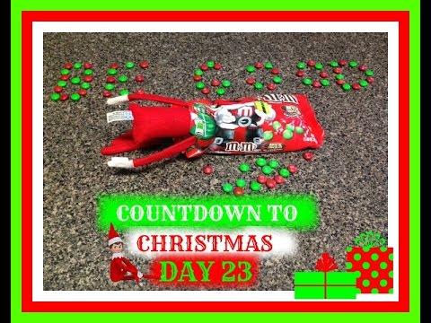 countdown to christmas 2015day 23 elf on the shelf advent calendar - Countdown To Christmas 2015