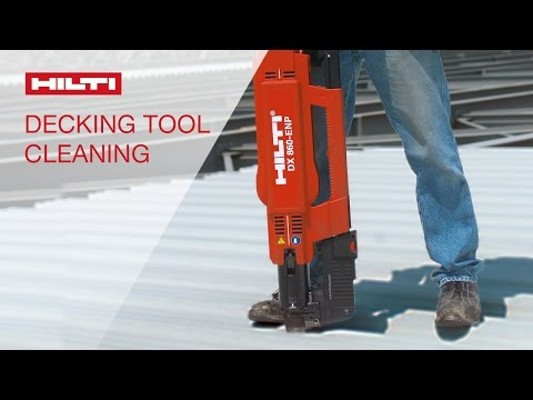 DEMO of cleaning Hilti's powder-actuated tool DX 860