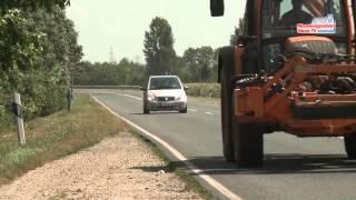 Lassabb a közlekedés az aratás idején