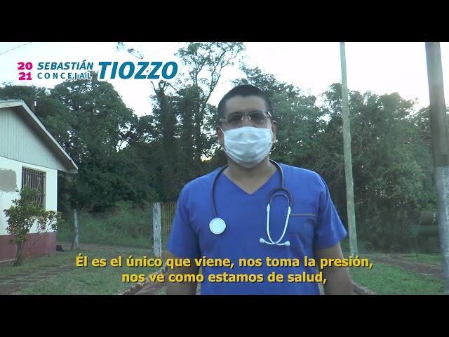 El médico comunitario Sebastián Tiozzo quiere ser concejal. Eldo toda la Vida