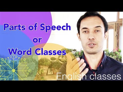Parts of speech or Word Classes