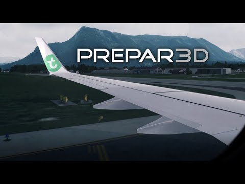 [Prepar3D] PMDG 737 NGX Landing in the Alps at Dusk - Salzburg LOWS