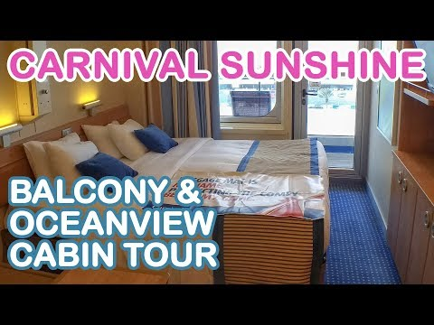 Carnival Sunshine 2018: Balcony & Oceanview Cabin Tour