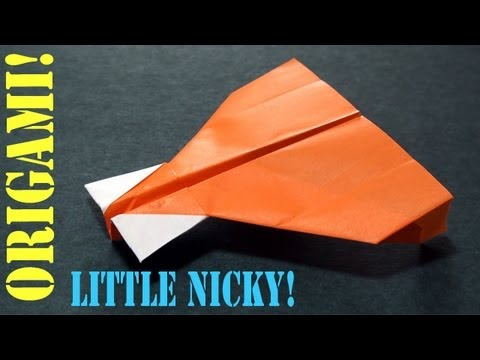 How To Make A Paper Airplane Little Nicky