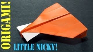 Origami Little Nicky Paper Airplane!