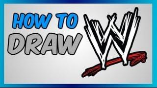 """How to draw """"WWE"""" Logo"""