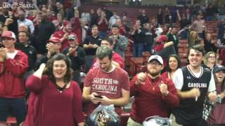 USC fans celebrate win at NCAA Tournament