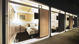 $54 a night luxurious Japanese capsule hotel