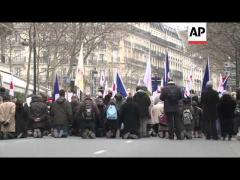 Protesters opposed to gay marriage hold street march from YouTube · Duration:  2 minutes 1 seconds