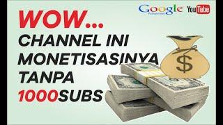 CARA Daftar Google Adsense tanpa 1000 subscribe & 4000 jam waktu tonton thumbnail