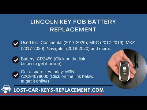 Lincoln Key Fob Battery Replacement (Continental, MKC, MKZ, Navigator & More)