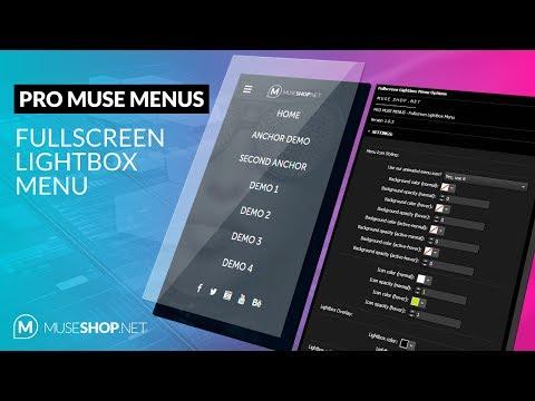 Video Tutorial - Fullscreen Lightbox Menu for Adobe Muse
