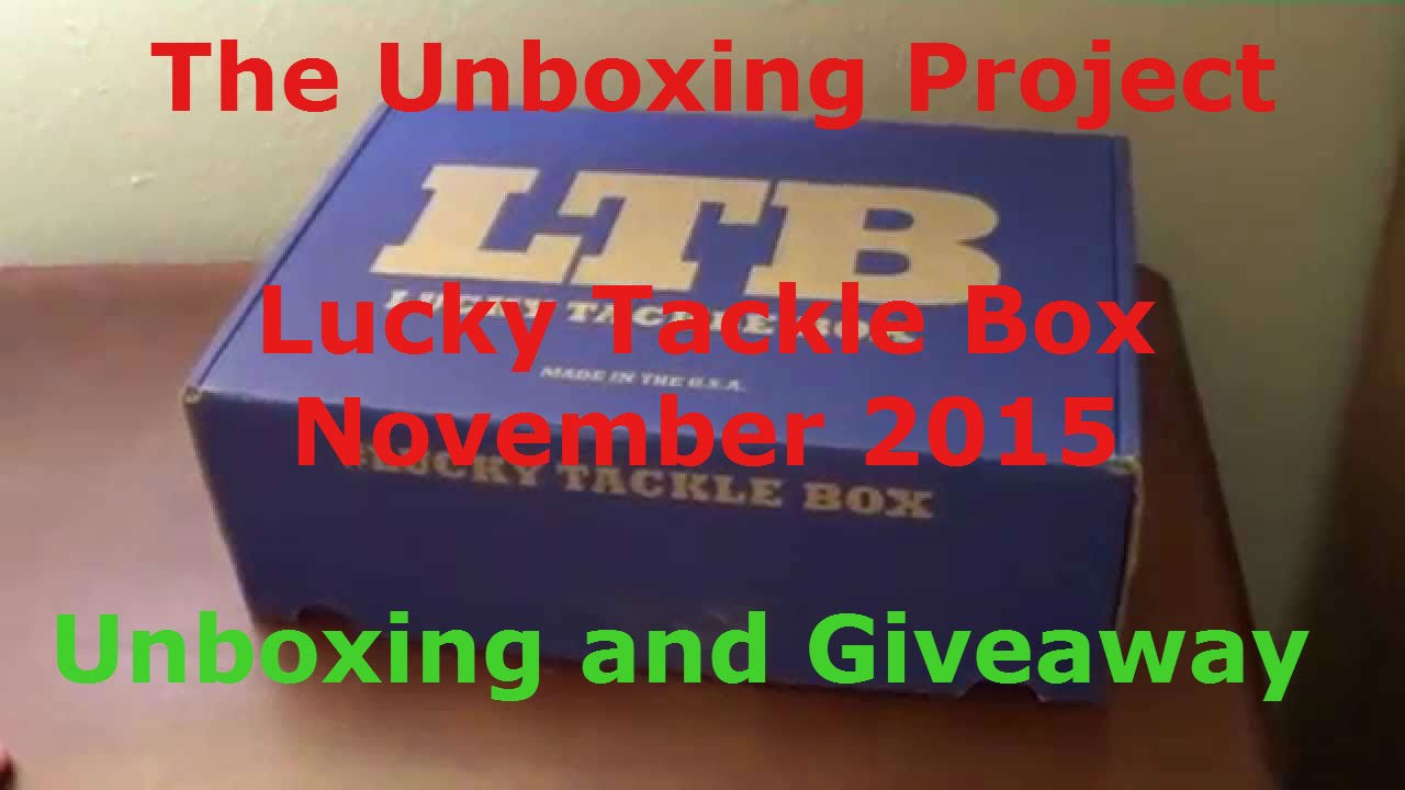 Lucky tackle box november 2015 unboxing giveaway free for Free fishing tackle giveaway