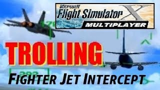TROLLING in FSX Multiplayer! Fighter Jets Intercept a 737 (Steam Edition 2015)