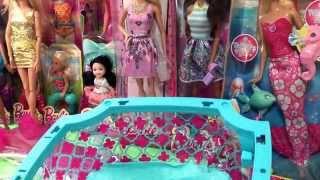 Barbie Pool Party Unboxing and Review Part 1! Tamika Kira Chelsea Swim Fun Pool Set