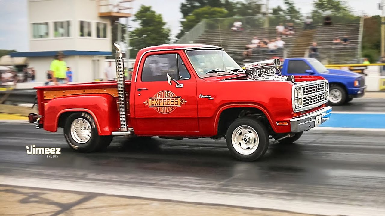 LIL RED TRUCK! BLOWN STREET DRIVEN! '79 DODGE LIL RED EXPRESS! - YouTube