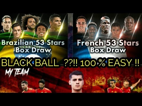 BLACKBALL ?? EASY :) !! BRAZILIAN & FRENCH 53 STARS BOX DRAW !!