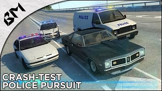 BeamNG Drive - Crash Test - Police Pursuit - Compilation