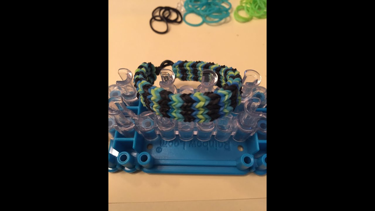 Rainbow loom How to make FLAT HEXAFISH (Dansk) - YouTube