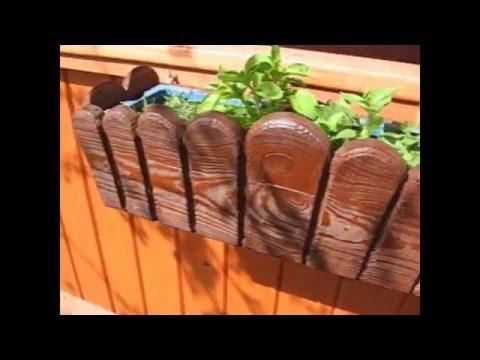 деревянные ящики для цветов своими руками