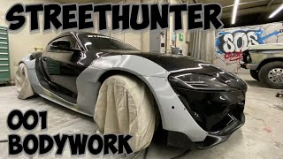 Painting a Widebody Supra for @Tj Hunt STREETHUNTER 001 1of 2 (bodywork)