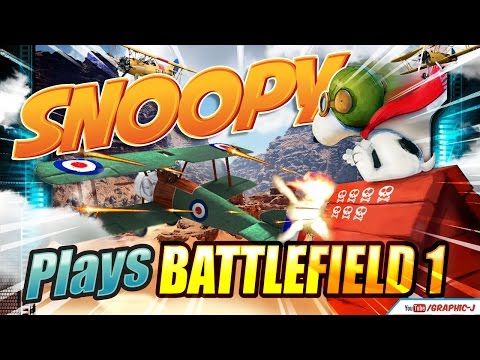 SNOOPY PLAYS BATTLEFIELD 1