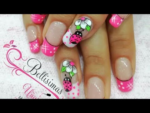 Uñas Decoradas Con Flores Youtube