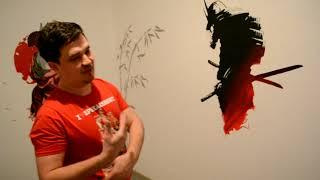 Роспись стен акриловыми красками для маленьких самураев.