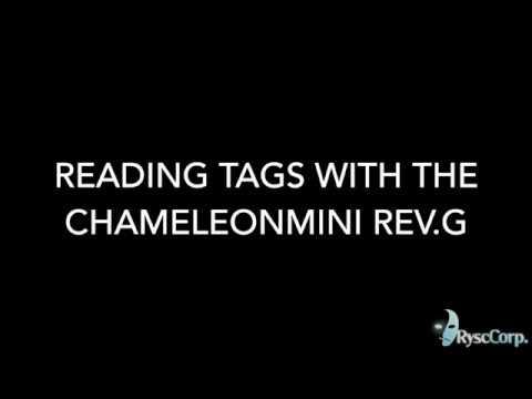 Reading Tags with the ChameleonMini Rev.G