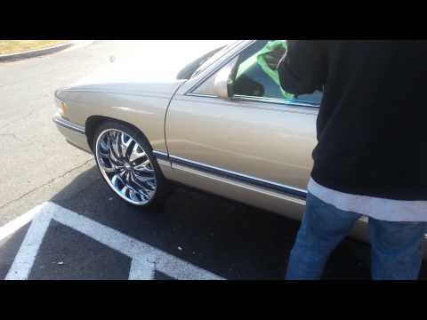 94 Cadillac on 22s in dmv
