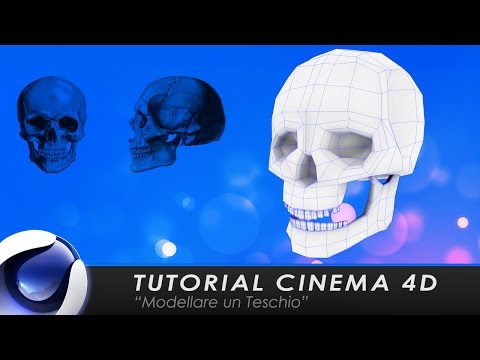 "TUTORIAL CINEMA 4D ""Modellare un Teschio"""