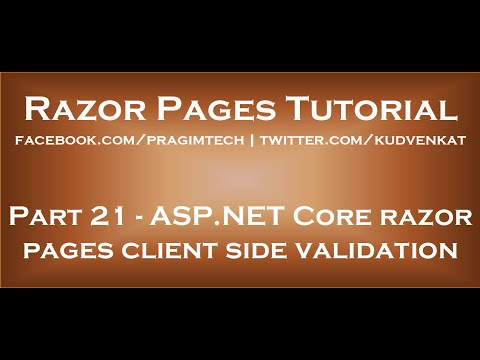 ASP NET Core Razor Pages Client Side Validation