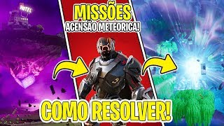HOW TO SOLVE THE METEORIC CHALLENGES AND HOW TO RELEASE THE SECRET SKIN! FORTNITE