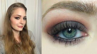 Осенний макияж / темные глаза / нейтральные губы: видео-урок