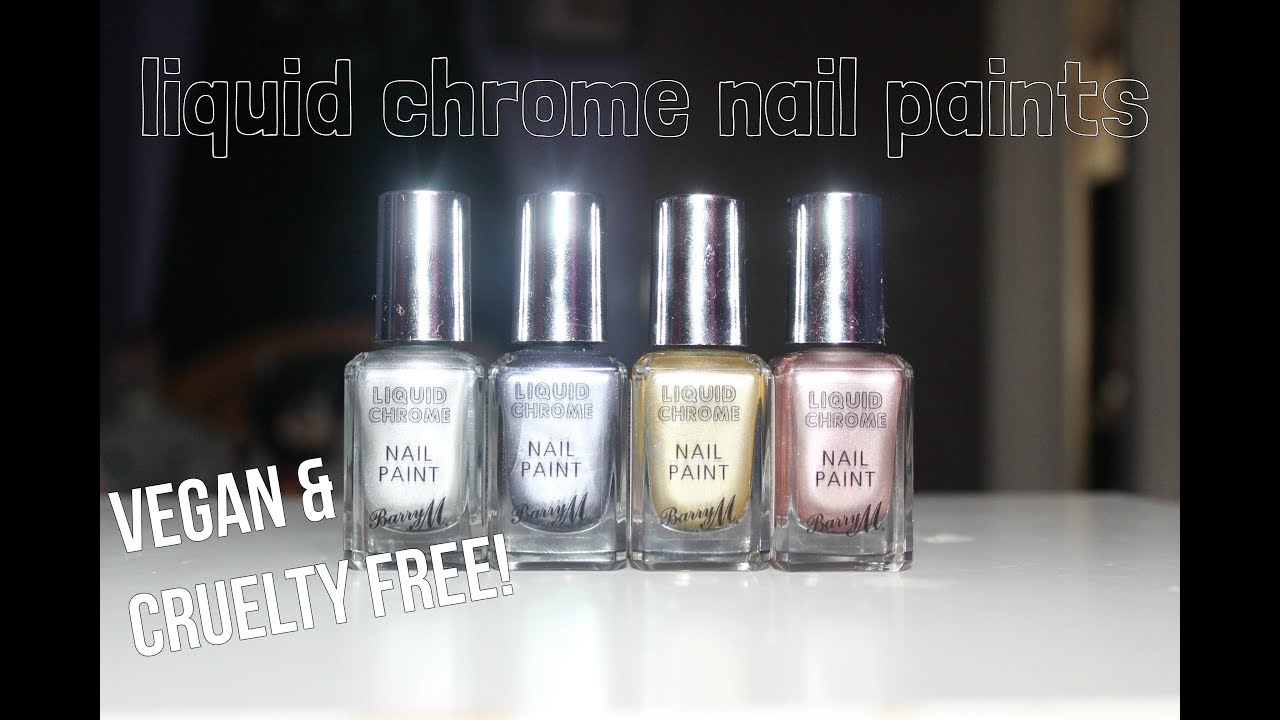 Barry M Liquid Chrome Nail Paints💅REVIEWED - YouTube