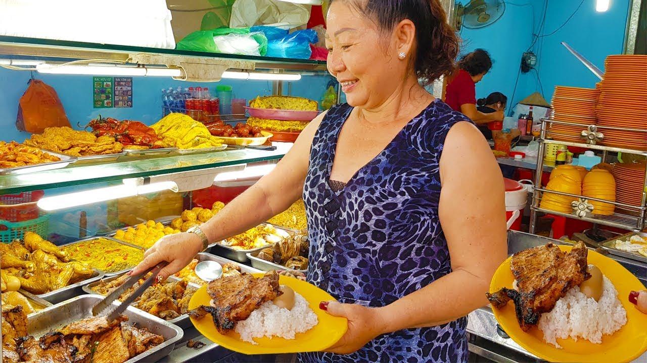 Cơm Tấm Tuyết Cây Gõ miếng sườn bự chảng chỉ 28k khách động nghẹt ở Sài Gòn   saigon food