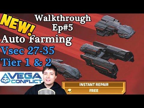 Vega Conflict NEW Auto-Fleet Tutorial: Tier 1 & 2 Vsec 27-35