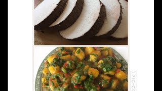 How to make Yam porridge with spinach