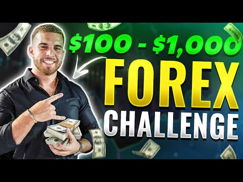 Swing trader FLIPS $100 to $1200 FOREX challenge LIVE trading Ep1.