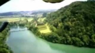 Flug über Thur bei Flaach und Rhein bei Rüdlingen