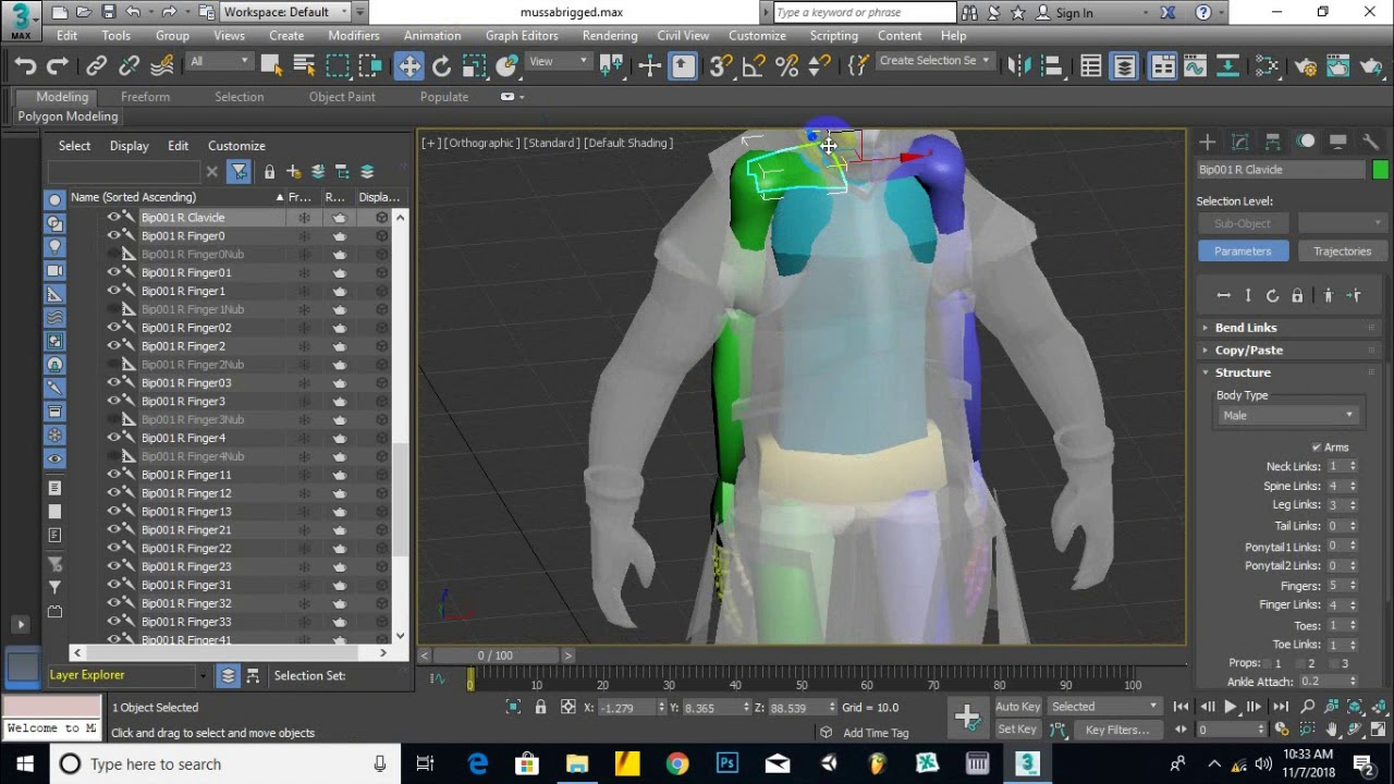 part 04 - rigging in max 001 - 3D Studio Max Tutorial Biped rig | Character modeling course 3dsmax