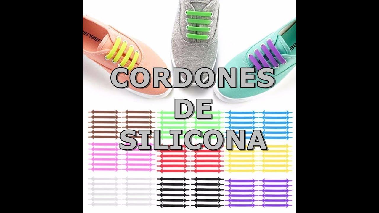 nueva estilos 0cf43 e08d1 CORDONES DE SILICONA PARA ZAPATILLAS AMAZON