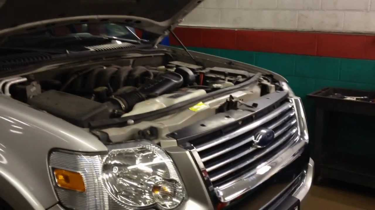 hight resolution of ford explorer coolant leak radiator repair youtube 2006 lincoln town car diagram 2006 ford explorer coolant diagram