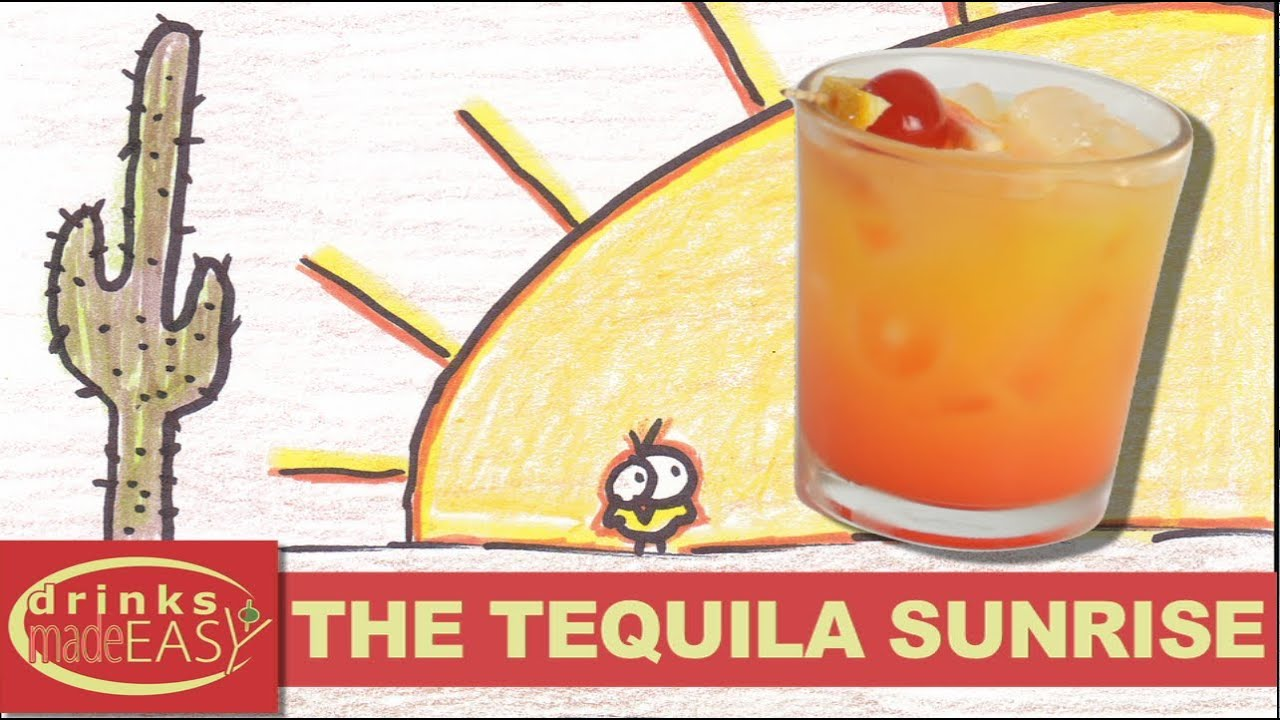 How to make a tequila sunrise cocktail recipe drinks made for Simple tequila mixed drinks