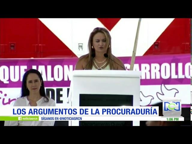 Los argumentos de la Procuraduría en el caso de Sandra Hurtado, exgobernadora del Quindío